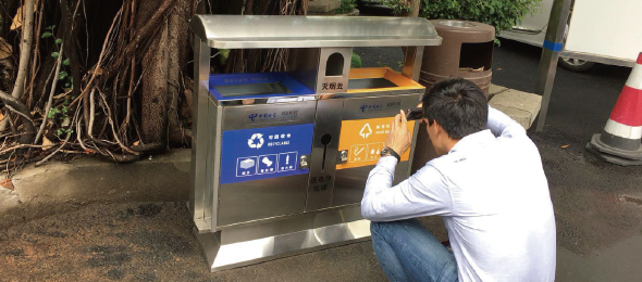 厦门某小区垃圾桶满溢监测项目
